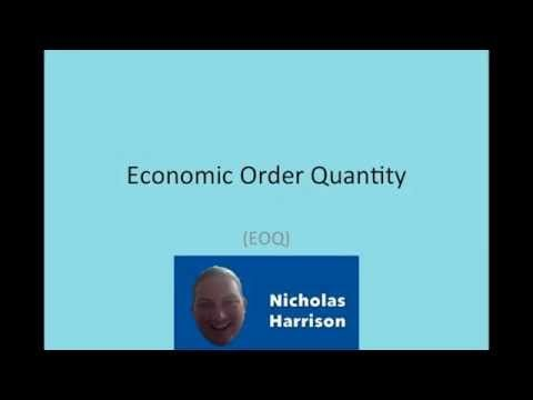 Ethan Chavez- I really liked this video of EOQ, Economic Order Quantity, because it does a great job at explaining the components of the EOQ formula and gives a real world example of why it is important. As explained you could make multiple orders of the same quantity but you may occur high ordering cost and if you order all at once you may have high carrying costs, very simplistic example to understand the concept behind EOQ.