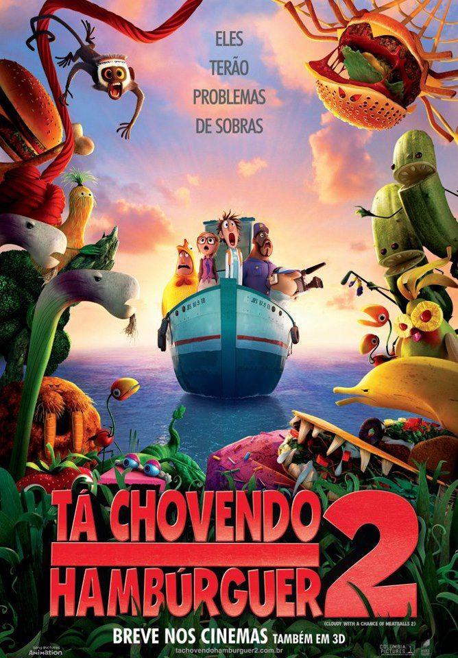 Um ótimo filme de animação para o final de semana Tá Chovendo Hambúrguer 2