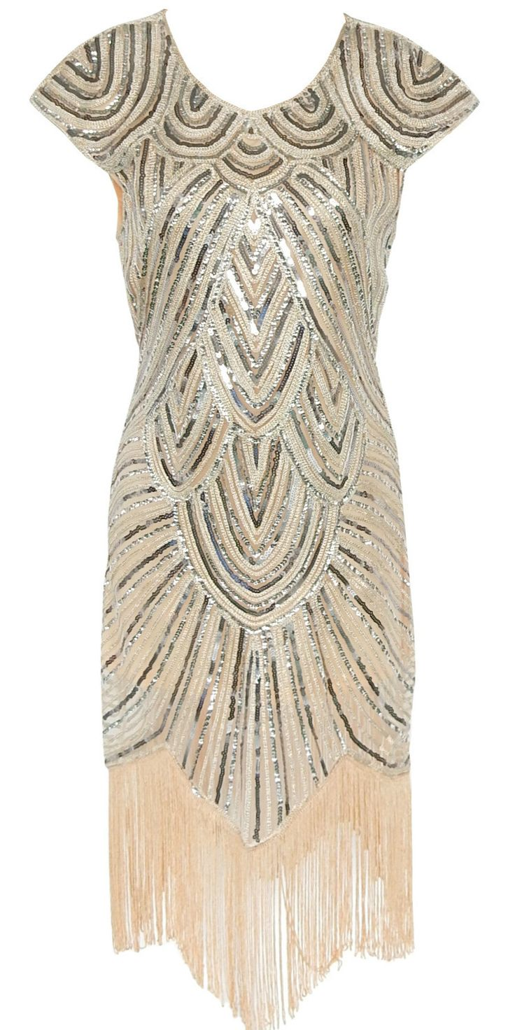 You're yearning to stand out from the crowd in this unique Sequin Asymmetric Tassel dress. OASAP.com will give you a gorgeous look!