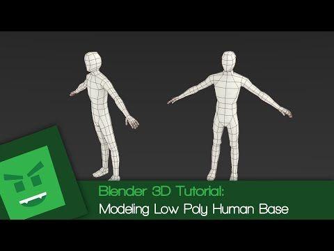 Blender 3D Tutorial : Modeling Low Poly Human Base - YouTube