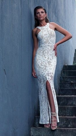Lace Lover Maxi Dress IVORY - $199