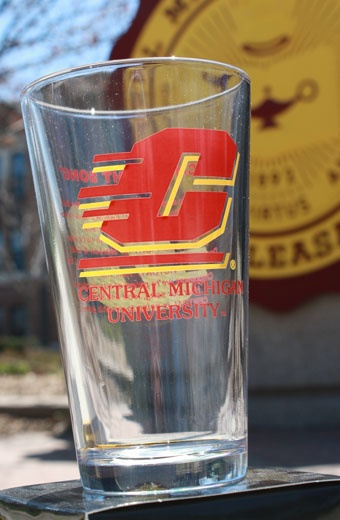 160Z Clear Central Michigan Fight Song Glass  $7.95