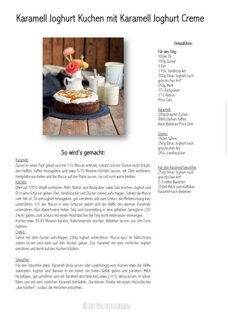 Karamell Joghurt Kuchen mit Karamell Joghurt Creme Rezept-001