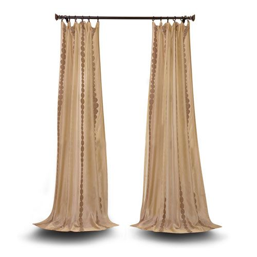 Vivian Gold 84 X 50 Inch Embroidered Sheer Curtain Sheer Curtain