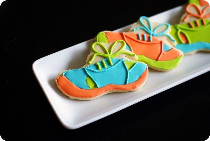 running shoe cookies