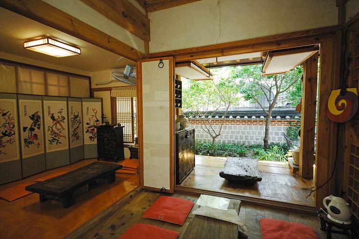Interior/Exterior Rooms... lovely tables:   Bukchon Hanok Village, Seoul, Korea