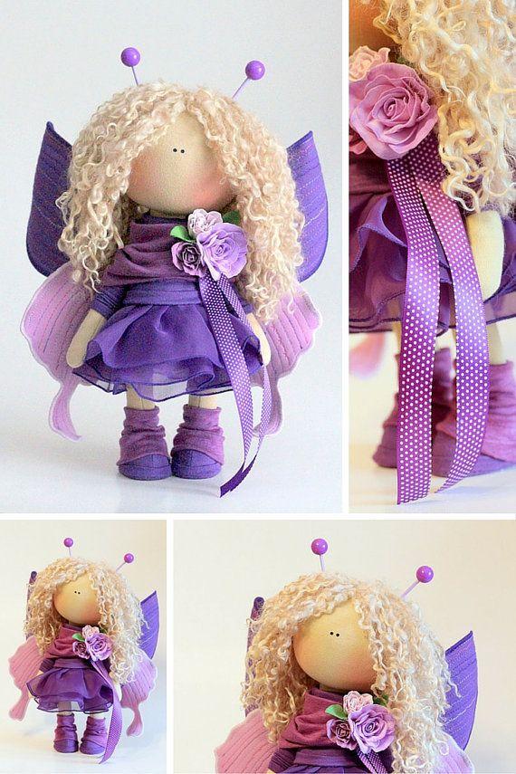 Baby bee doll Fabric doll Tilda doll pink by AnnKirillartPlace