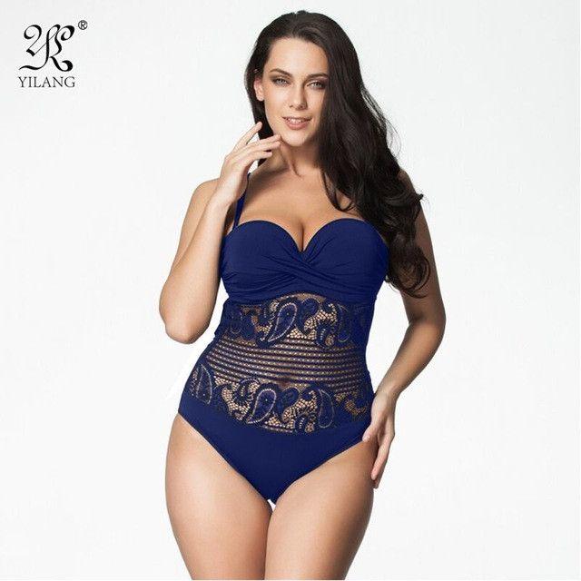 Sexy High Cut Swimsuit One Piece Swimwear Women Plus Size One Piece Black Lace Beach Bathing Suit Brazilian Monokini