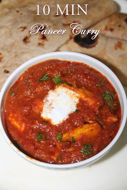 YUMMY TUMMY: 10 Min Paneer Curry Recipe - Paneer Gravy in a Jiffy