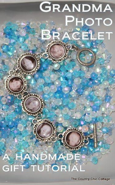 Handmade Gift:  Grandma Photo Bracelet Tutorial -- learn how to make mom or grandma a great handmade photo charm bracelet with this super si...