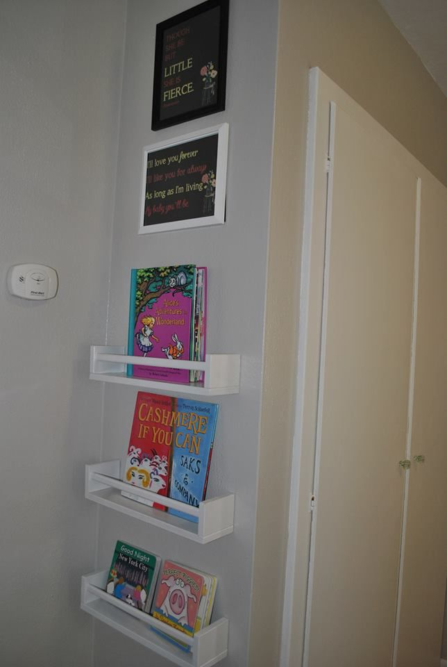 Mini Library Made From Ikea Bekvam Spice Rack Refinished In White