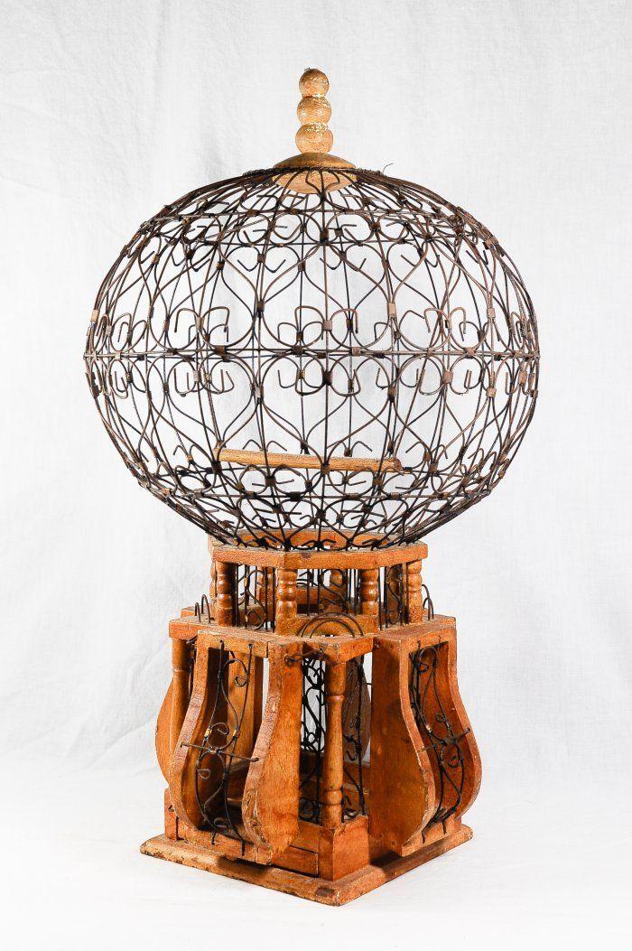 victorian orb bird cage
