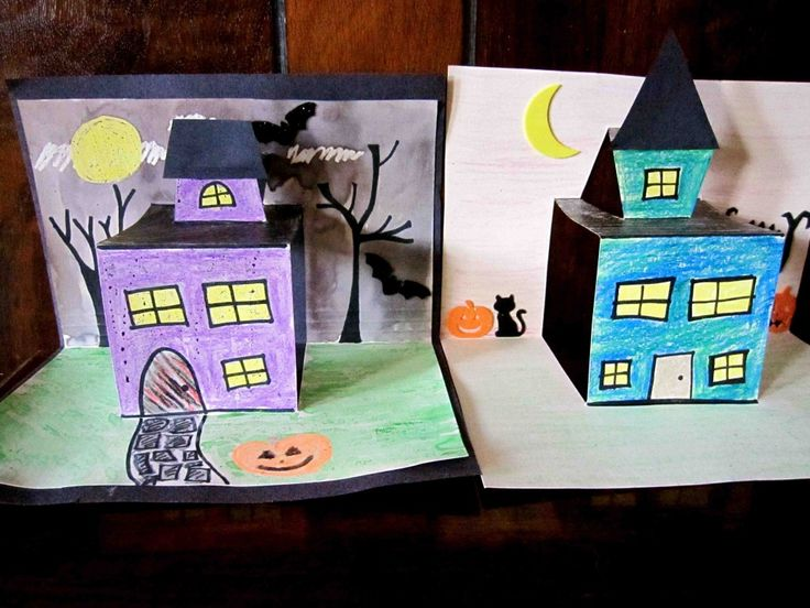Haunted House Pop-Up Craft #halloween