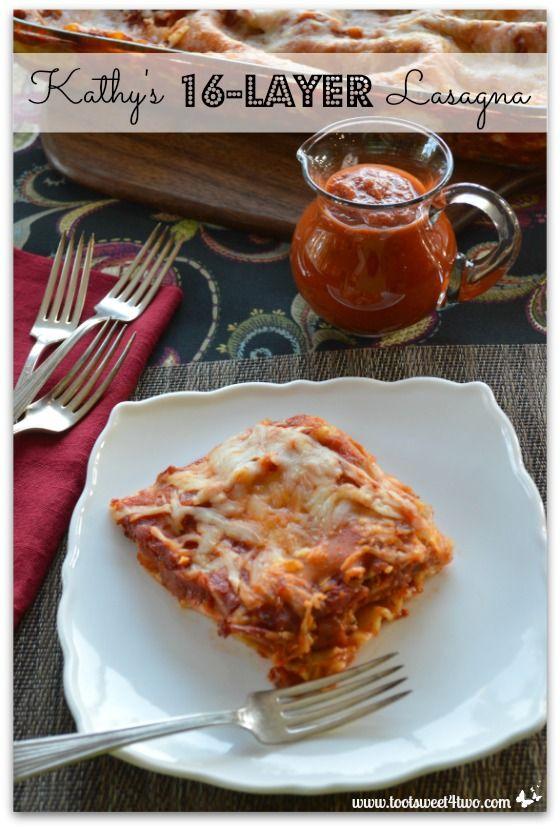 Kathy's 16-Layer Lasagna