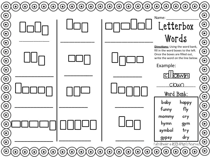 Y As A Vowel Worksheets Free Worksheets Library | Download and ...