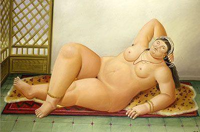 Fernando Botero, Odalisque, 1980
