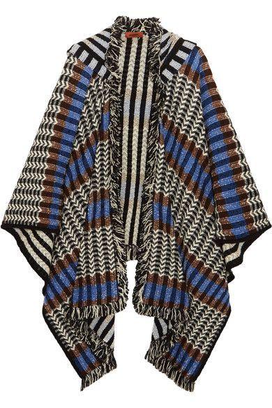 Missoni | Fringed crochet-knit wool-blend poncho | NET-A-PORTER.COM