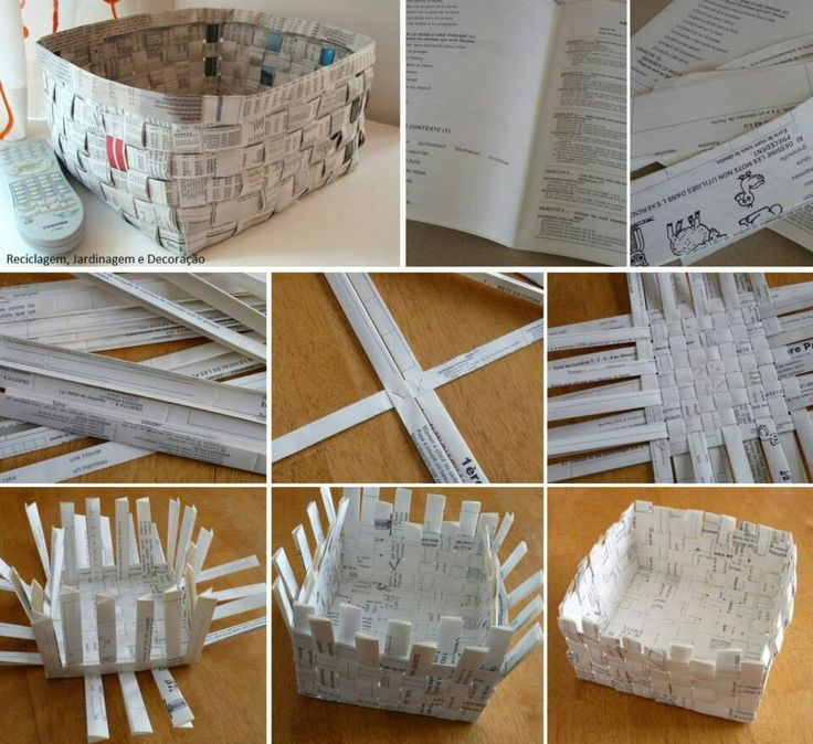DIY paper basket                                                                                                                                                      Mais