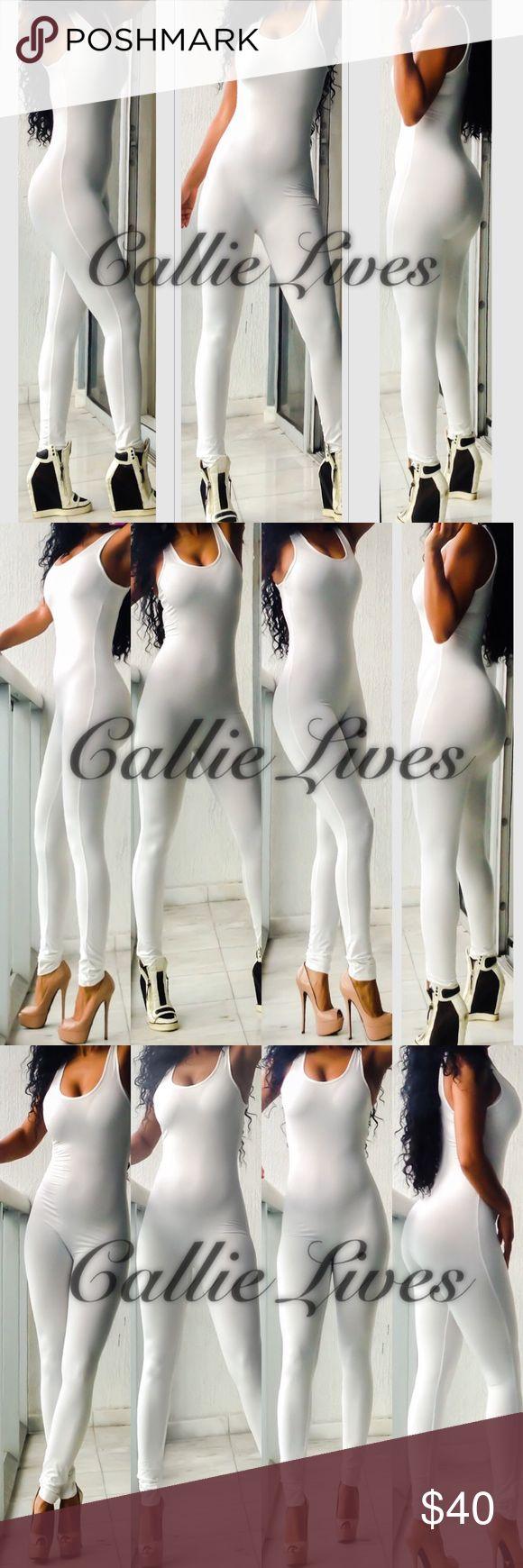 Ivory Off White Catsuit Bodysuit Romper Jumpsuit Yet Callie Lives Pants Jumpsuits & Rompers