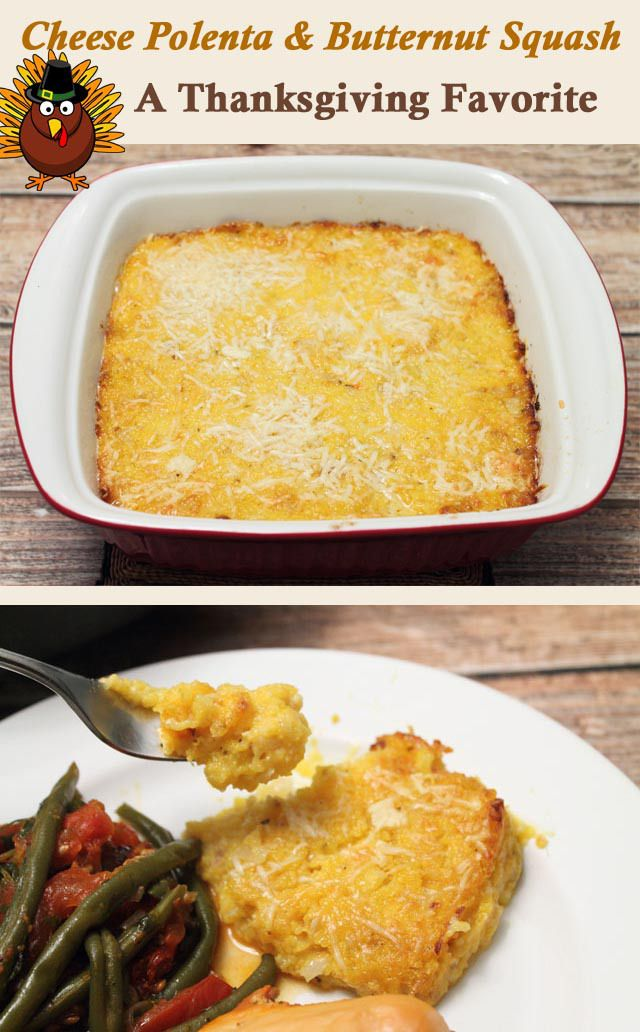 Cheese Polenta and Butternut Squash Casserole | 2CookinMamas - Creamy ...