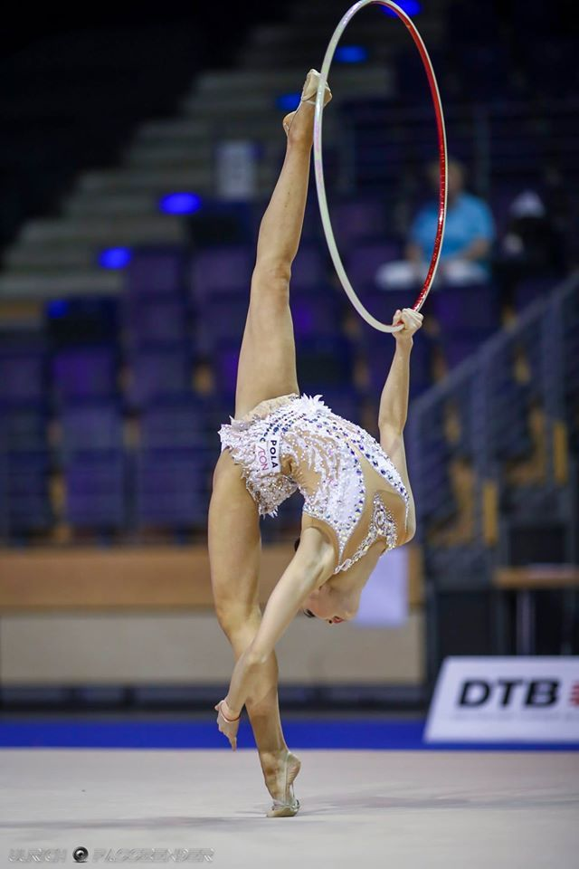Kaho Minagawa (Japan) got 16.666 points for hoop at Qualification Olympic Games 2016