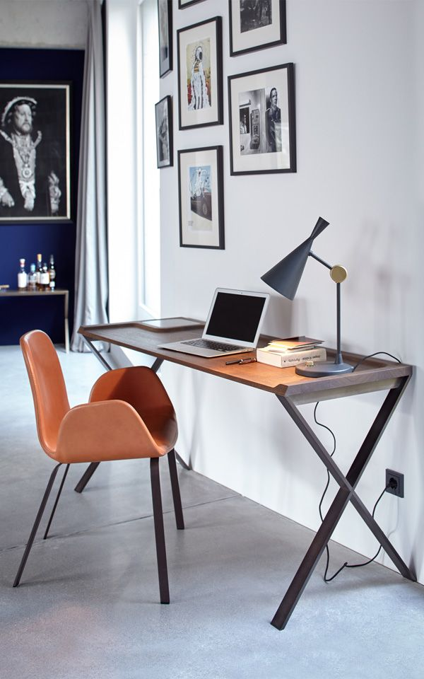 Actually, our writing desk is a question, dressed in the garment of a radical, beautifully reduced piece of furniture: when was the last time that you sat down to write a letter?