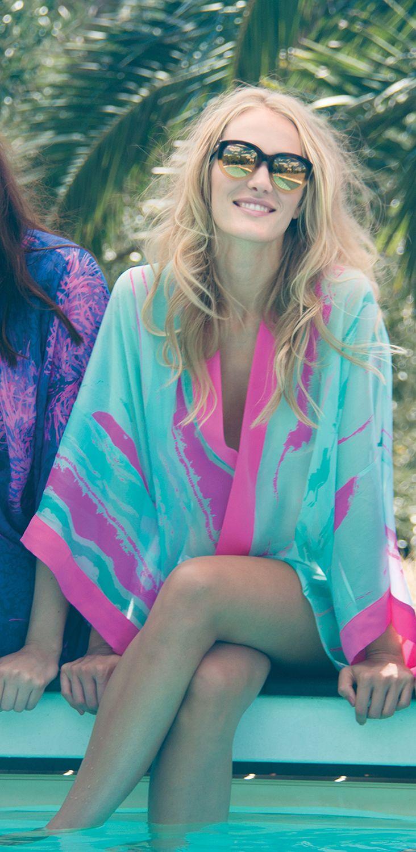 Silk Square Scarf - Brigitte Silk by VIDA VIDA THKpu