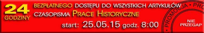 Dzień otwartego dostępu do Prac Historycznych!
