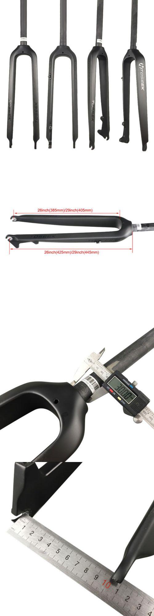 Carrier and Pannier Racks 177836: 26 27.5 29 Full Carbon Fiber Mtb Rigid Fork Stright Tube Disc Brake 180Mm -> BUY IT NOW ONLY: $64.67 on eBay!