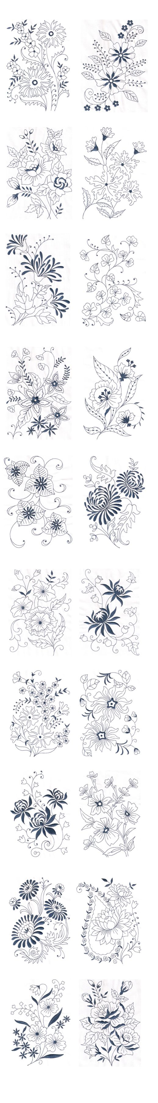 Vintage Floral Design - Machine Embroidery Design on Behance