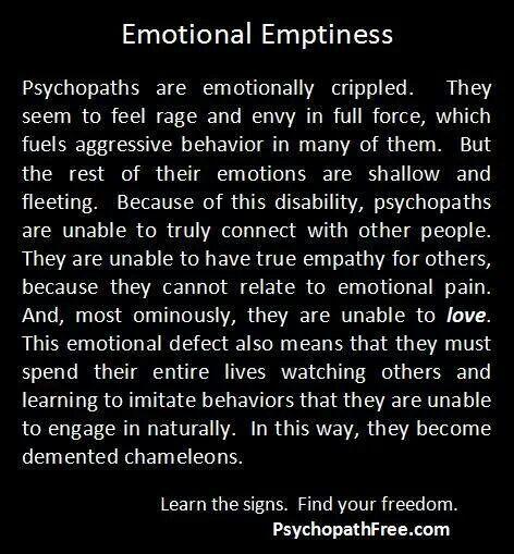 Narcissistic sociopath are EMPTY SHELLS.  A recovery from narcissistic sociopath relationship abuse.