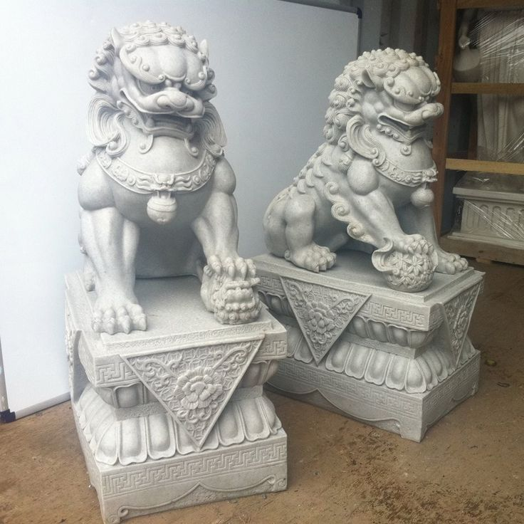 Large Foo Dogs Statues - Granite Chinese Fu Temple Lions. Buy now at http://www.statuesandsculptures.co.uk/large-foo-dogs-statues-granite-chinese-fu-temple-lions