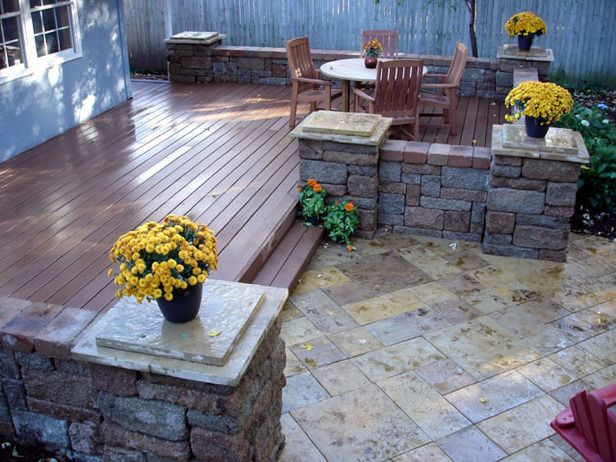 Decks And Pavers Patios Idea | How to Install a Composite Deck and Paver Patio : How-To : DIY Network