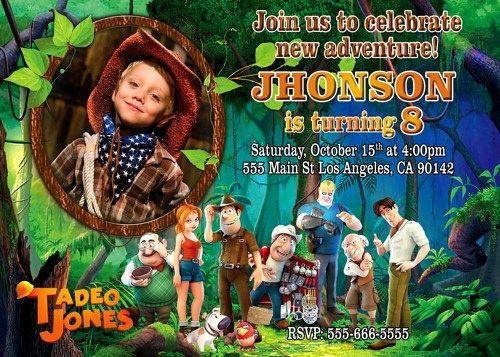Tadeo Jones invitation, Invitation printable, Personalized invitation