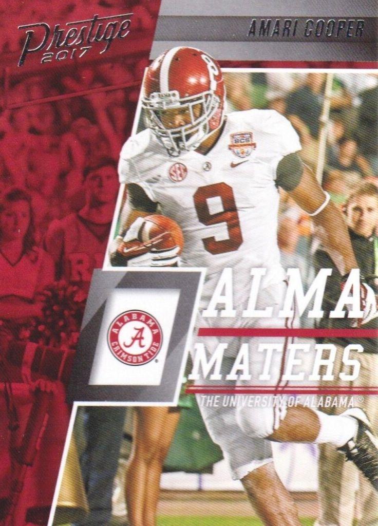 "Amari Cooper ""Alma Maters"" card #Alabama #RollTide #Bama #BuiltByBama #RTR #CrimsonTide #RammerJammer"
