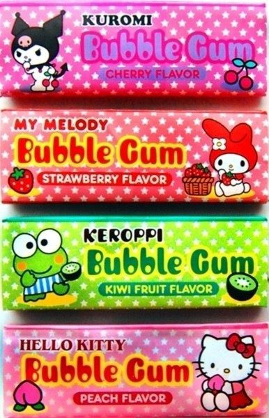 Hello Kitty and assorted other gums PD