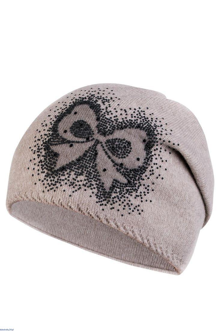 Stylowa czapka ciepła wełniana elegancka Aurelia