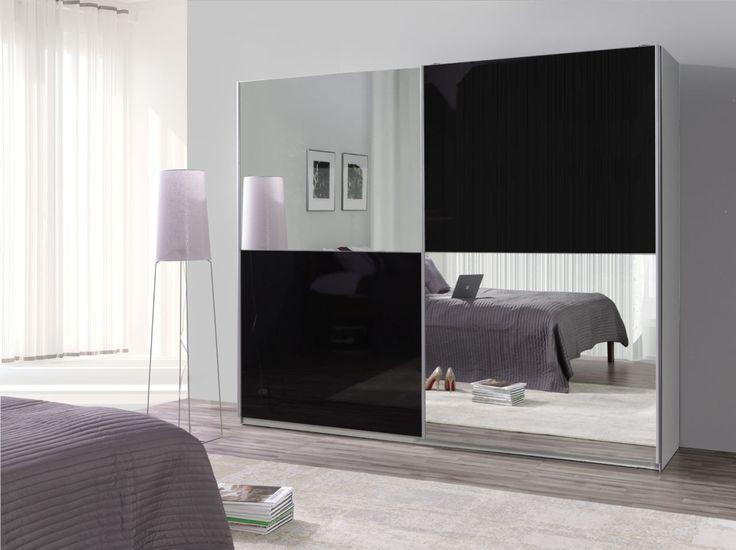 Gloss/Glanz  http://www.mirjan24.de/kleiderschraenke/1912-kleiderschrank-toni-26-4000100154717.html?search_query=toni+26&results=32 #wardrobe #mirror #black