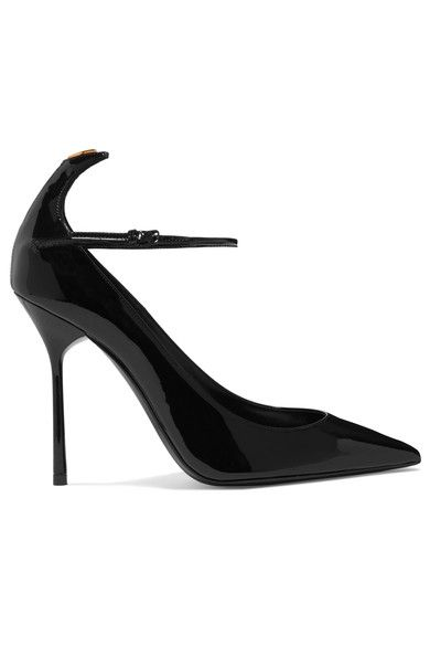 Saint Laurent - Y Patent-leather Pumps - Black