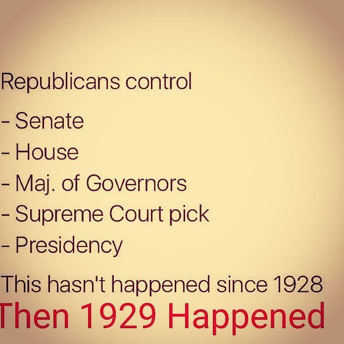 Well Conservatives, you've got what you wanted, I hope we don't seriously regret it once again -- History has a very strong tendency to repeat itself under Republican dominance!!