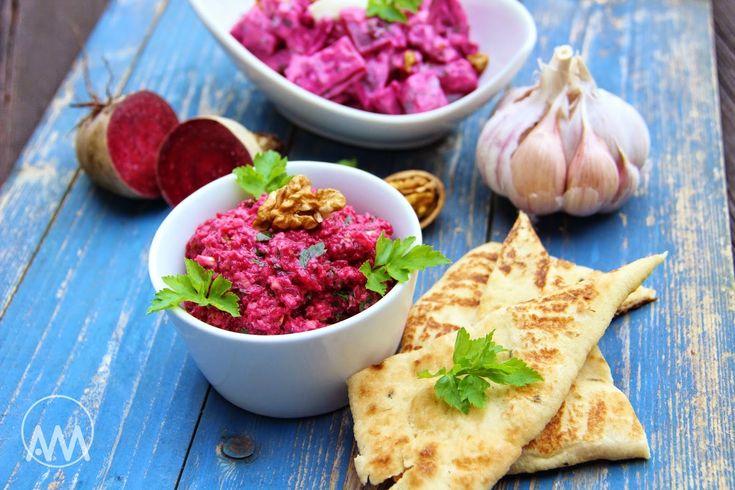 V kuchyni vždy otevřeno ...: Pantzarosalata - dvě varianty řeckého salátu z červené řepy