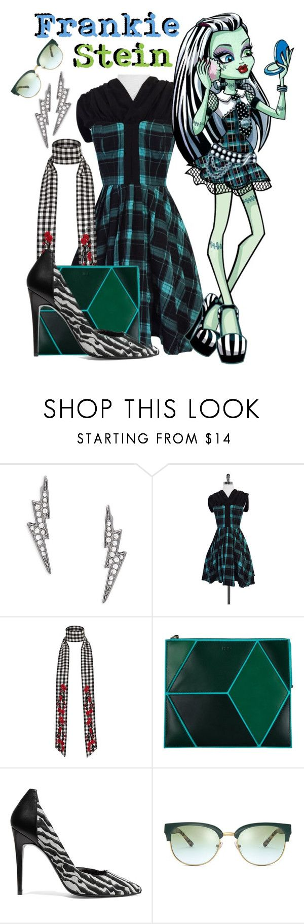"""""""Frankie Stein - MH Inspired"""" by freezespell ❤ liked on Polyvore featuring ABS by Allen Schwartz, Frock! by Tracy Reese, River Island, Heio, Pierre Hardy and Tory Burch"""