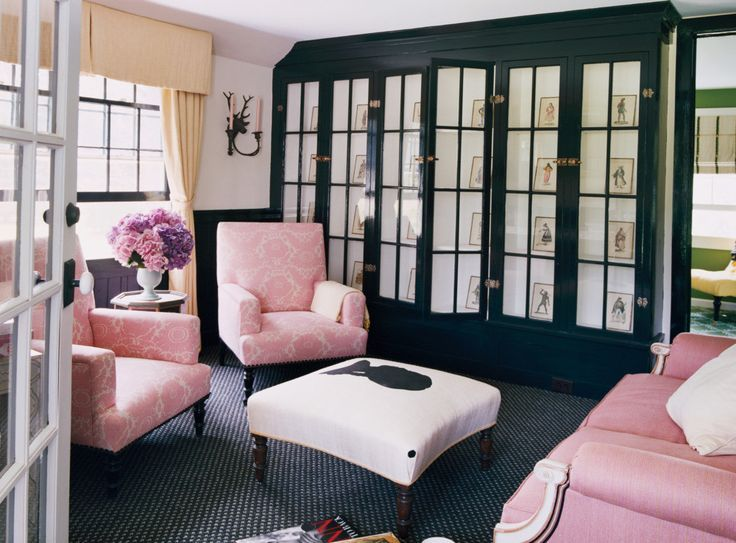 Black And White Room With Blush Pink Furniture Pantone Ash Rose Black Floor Blush Pink Deco Paint Colors For Living Room Living Room Paint Black Living Room