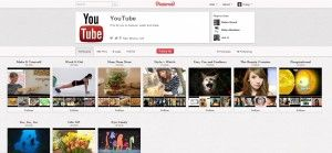 YouTube Launches Pinterest Page