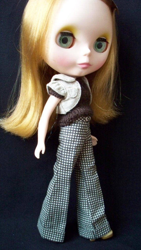 Check wide cuffed trousers for Blythe in expresso