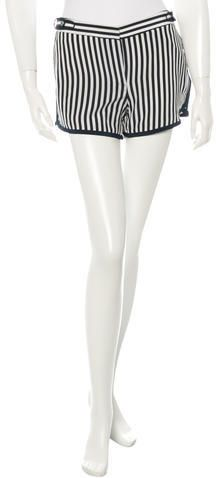 Diane von Furstenberg Striped Silk Shorts