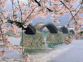 Kintai Bridge in Iwakuni Japan.