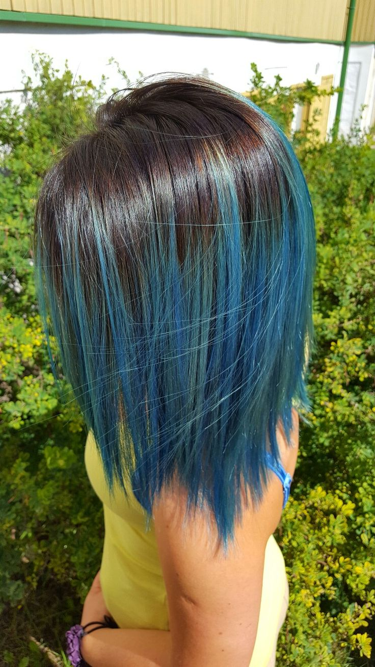 Tumblr hair color ombre blue