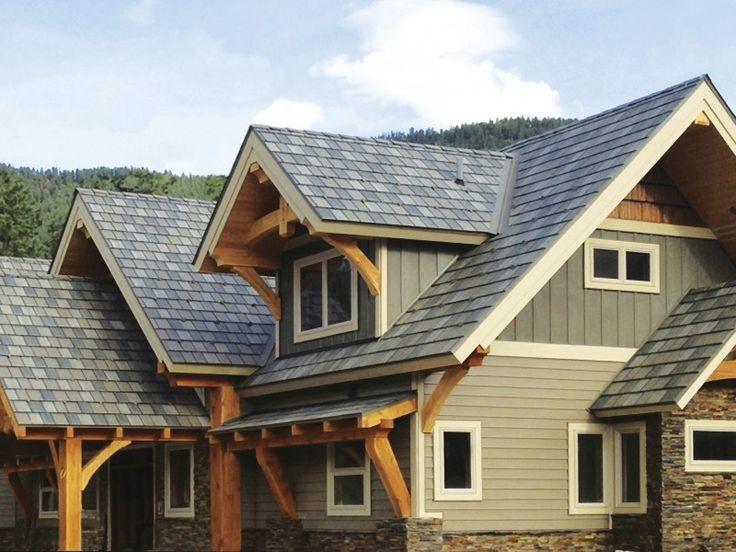 Steel Roofs | Arrowline Roofing | Steel Shingles | EDCO Metal Roofing enhanced slate-t-tone blend