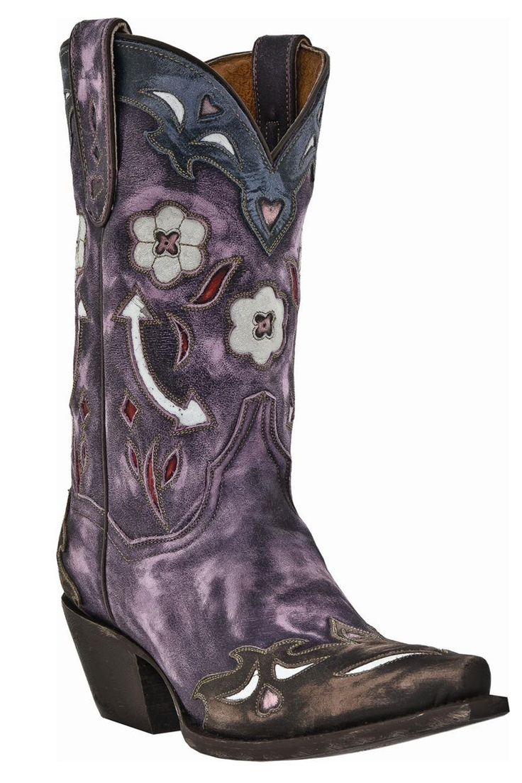Women's Dan Post Boots Purple Vintage Arrow Cowgirl Boots